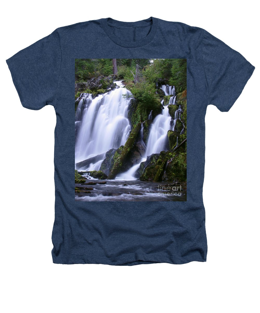 Waterfall Heathers T-Shirt featuring the photograph National Creek Falls 09 by Peter Piatt
