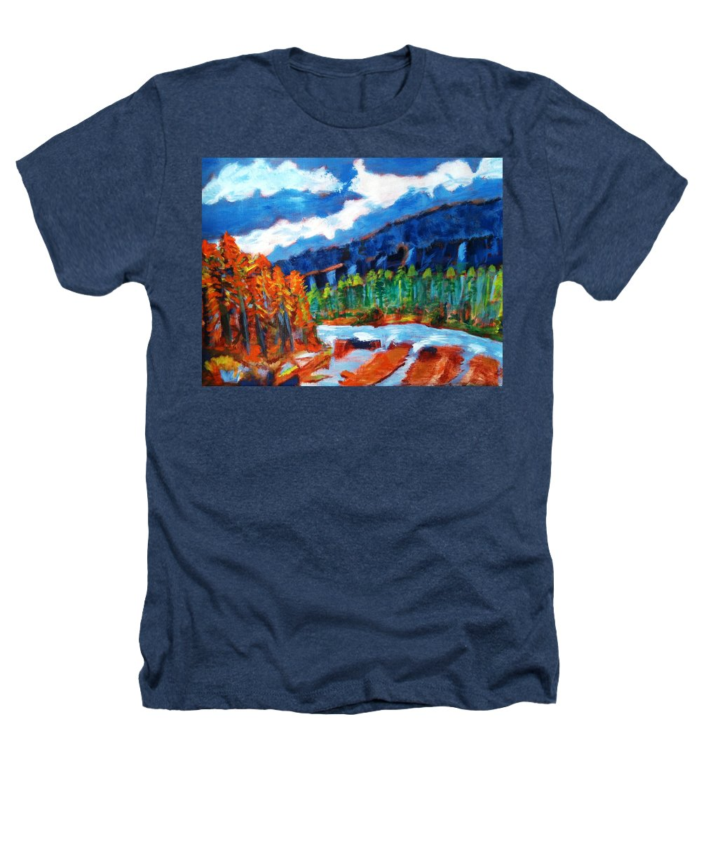 Mountains Heathers T-Shirt featuring the painting Naturals by R B