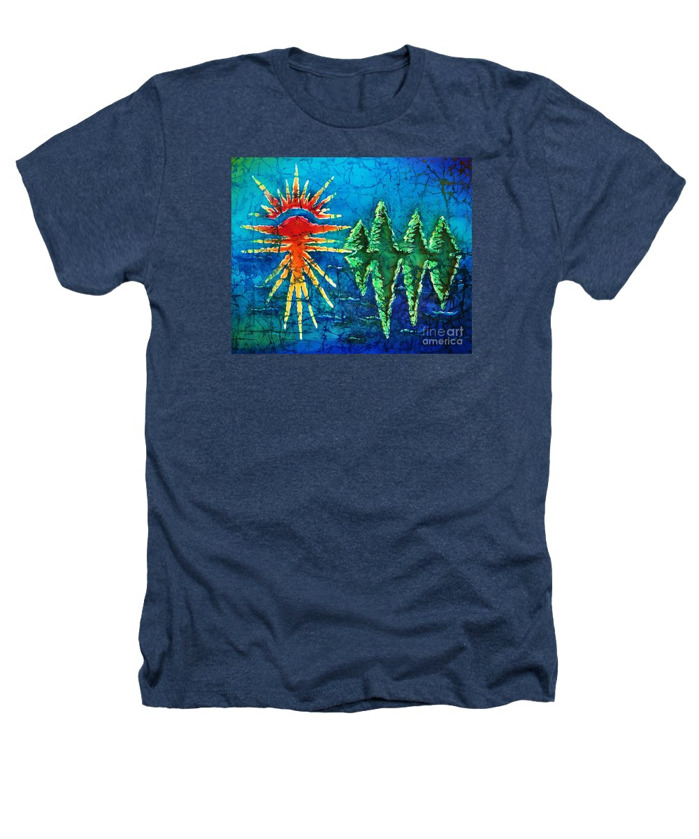 Trees Heathers T-Shirt featuring the painting Nature by Sue Duda