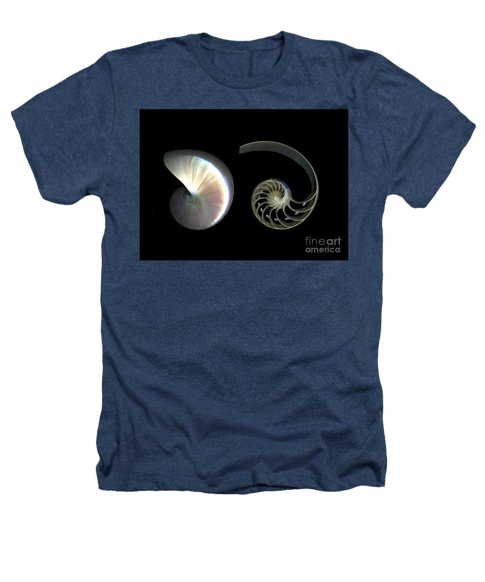 Nautilus Heathers T-Shirt featuring the photograph Nautilus Deconstructed by Christian Slanec