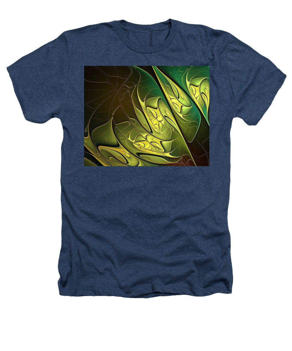 Digital Art Heathers T-Shirt featuring the digital art New Leaves by Amanda Moore