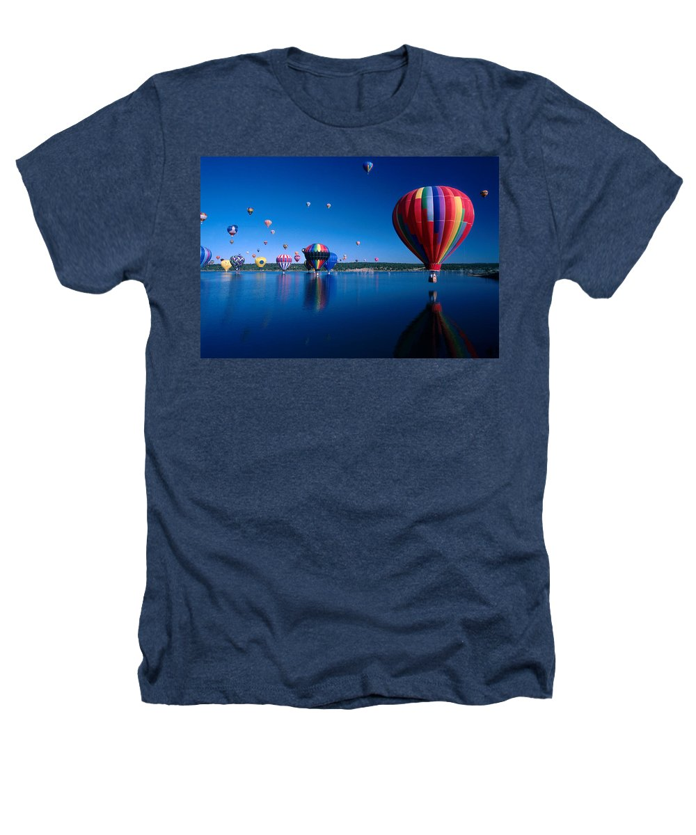Hot Air Balloon Heathers T-Shirt featuring the photograph New Mexico Hot Air Balloons by Jerry McElroy