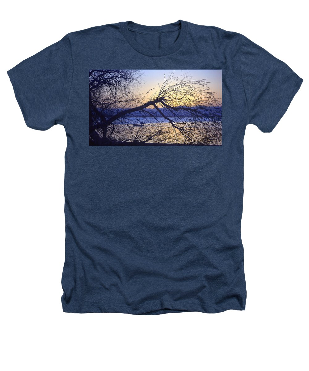 Barr Lake Heathers T-Shirt featuring the photograph Night Fishing In Barr Lake Colorado by Merja Waters