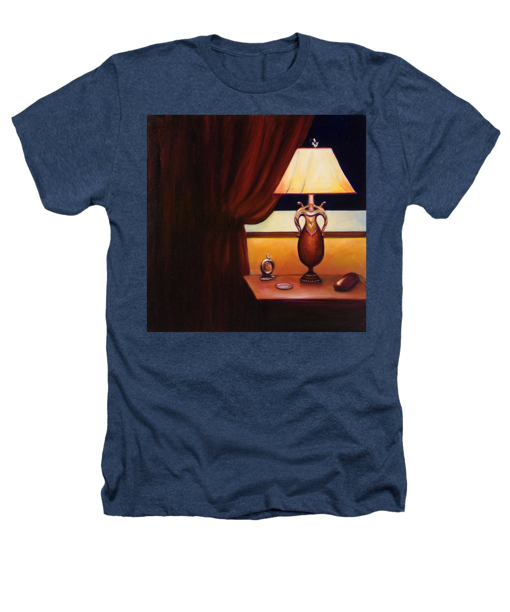 Still Life Red Heathers T-Shirt featuring the painting Night by Shannon Grissom