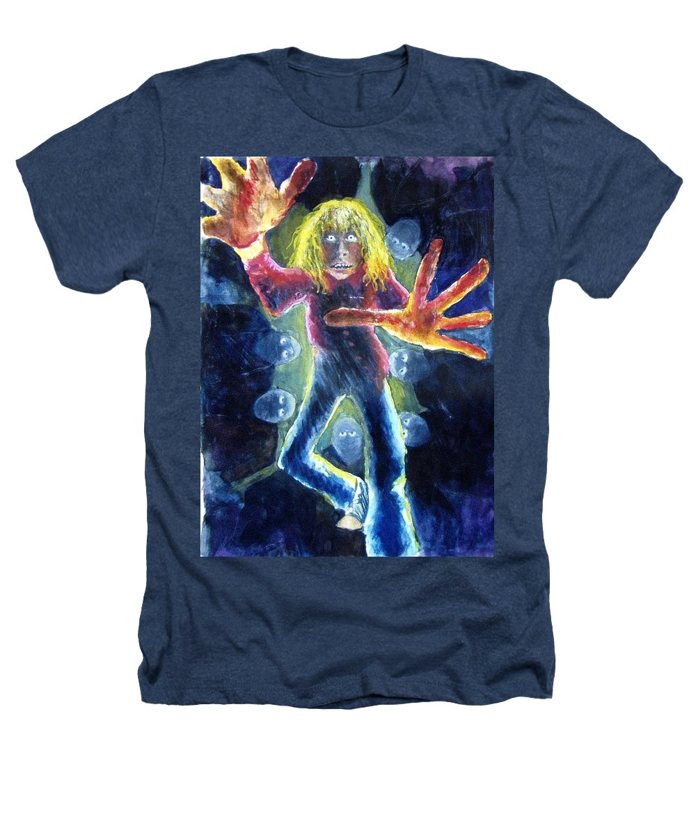 Nightmare Heathers T-Shirt featuring the painting Nightmare by Nancy Mueller