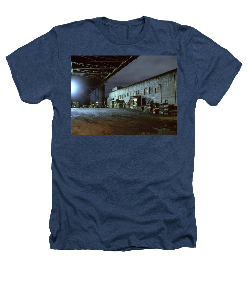 Nightscape Heathers T-Shirt featuring the photograph Nightscape 1 by Lee Santa