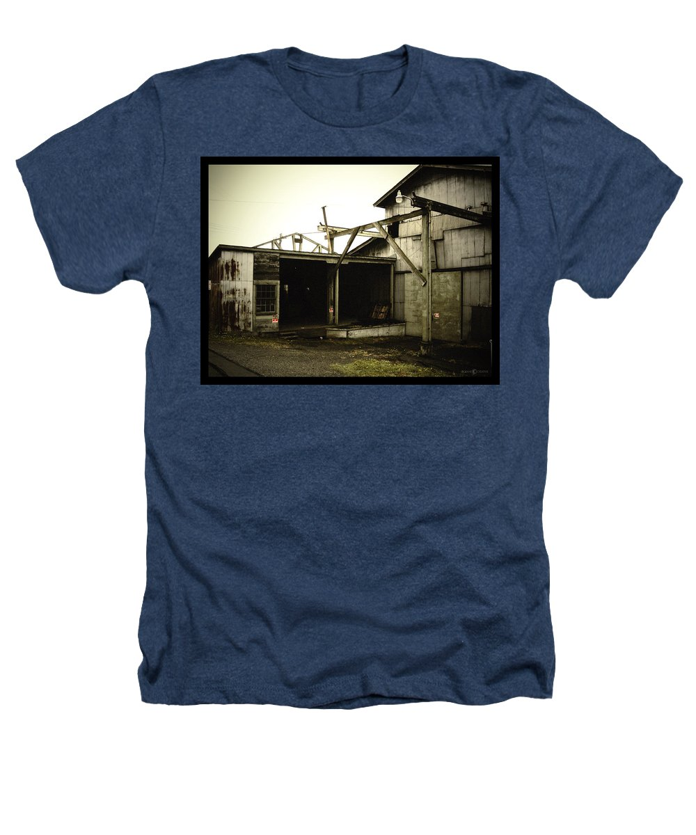 Warehouse Heathers T-Shirt featuring the photograph No Trespassing by Tim Nyberg