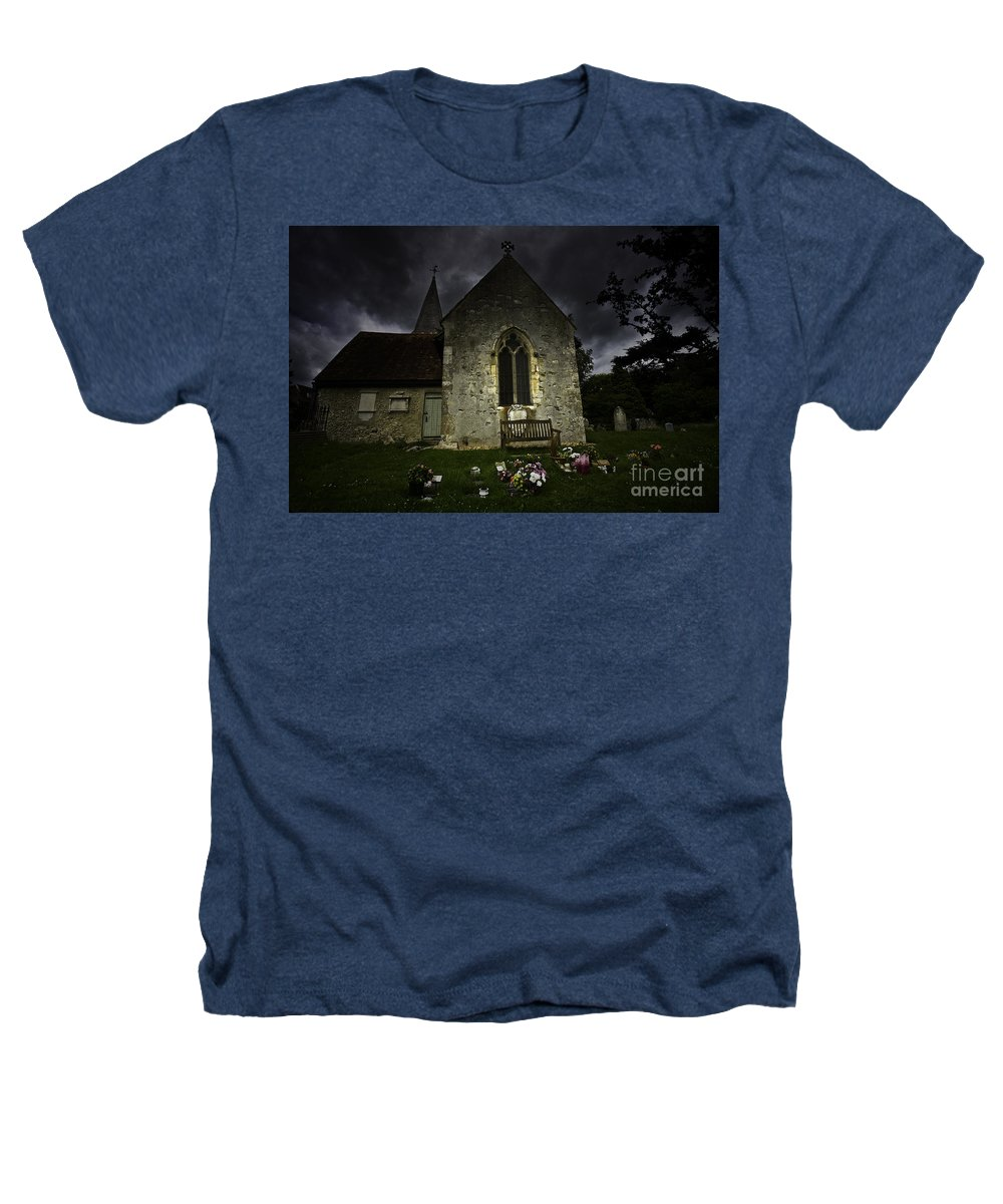 Church Heathers T-Shirt featuring the photograph Norman Church At Lissing Hampshire England by Sheila Smart Fine Art Photography