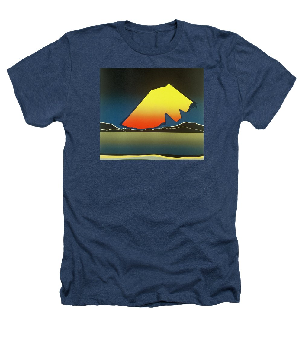 Landscape Heathers T-Shirt featuring the mixed media Northern Light. by Jarle Rosseland
