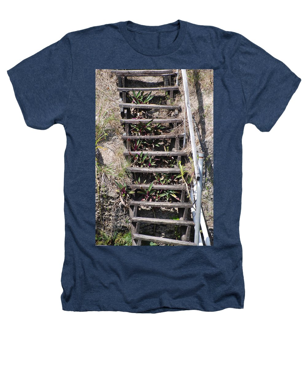 Stairs Heathers T-Shirt featuring the photograph Nowhere Stairs by Rob Hans