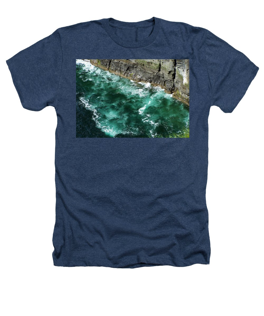 Irish Heathers T-Shirt featuring the photograph Nowhere To Go Cliffs Of Moher Ireland by Teresa Mucha