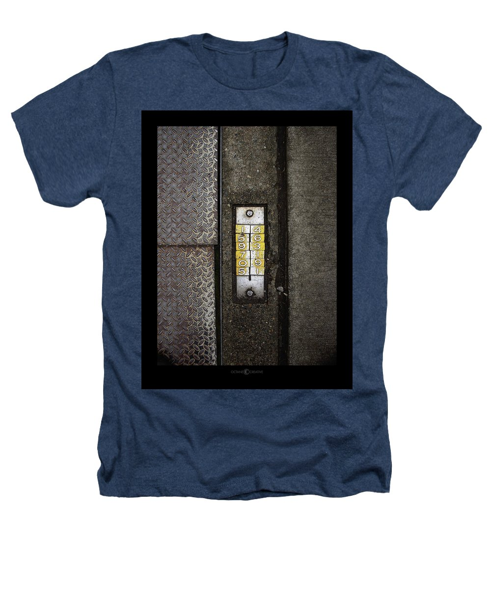 Numbers Heathers T-Shirt featuring the photograph Numbers On The Sidewalk by Tim Nyberg