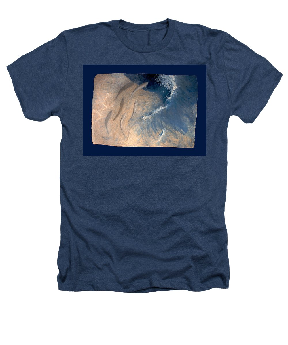 Seascape Heathers T-Shirt featuring the painting Ocean by Steve Karol