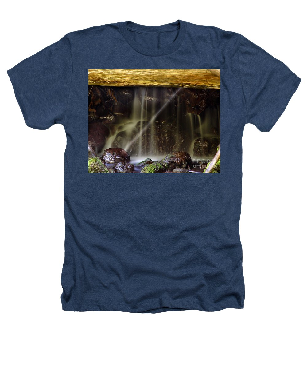 Water Trickle Heathers T-Shirt featuring the photograph Of Light And Mist by Peter Piatt