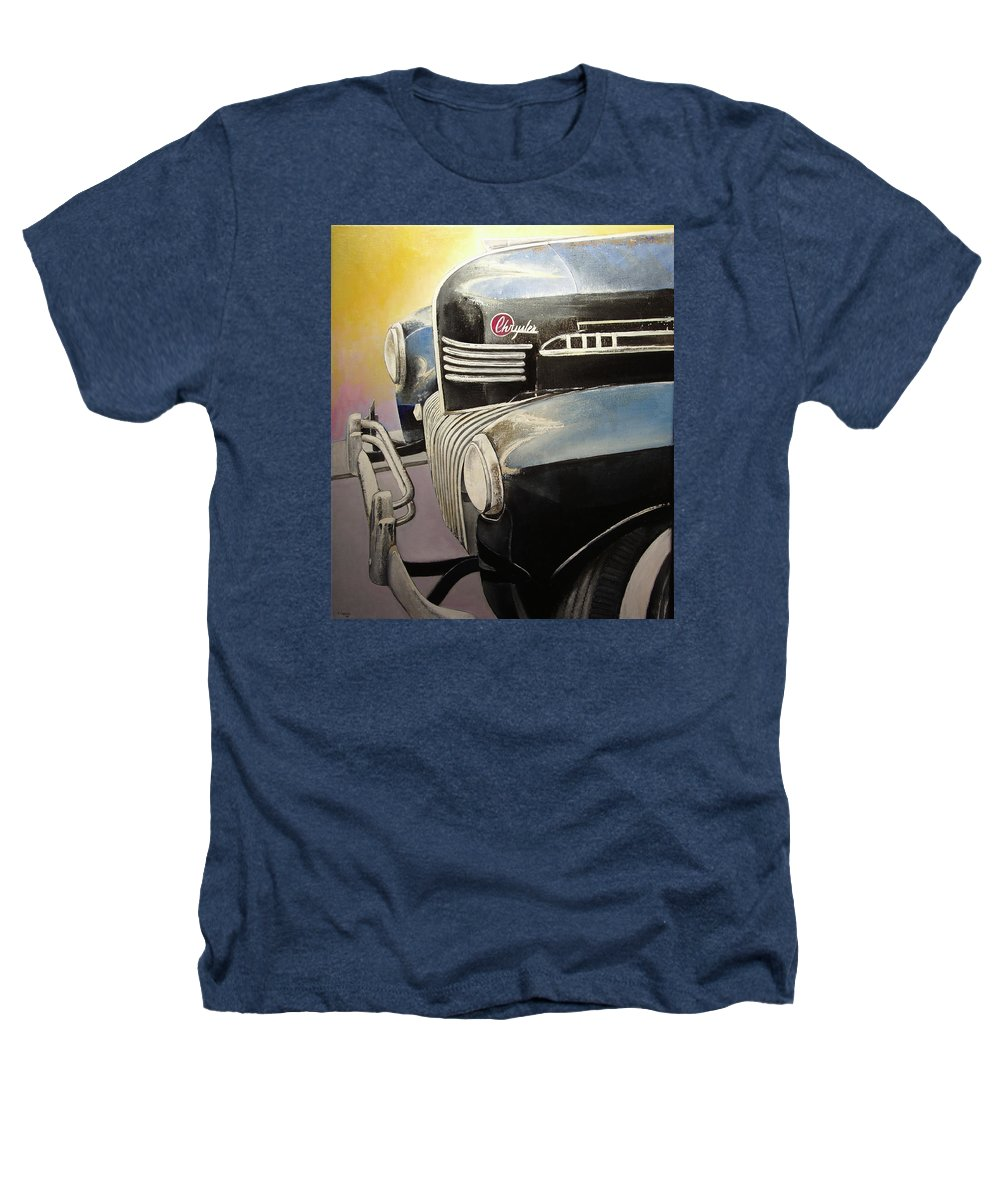 Old Heathers T-Shirt featuring the painting Old Chrysler by Tomas Castano