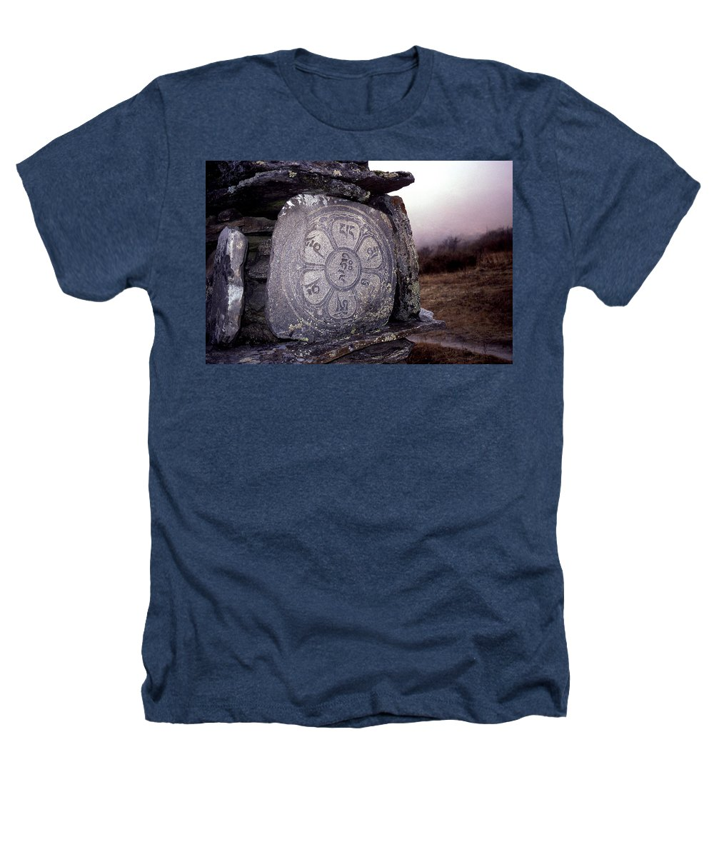 Langtang Heathers T-Shirt featuring the photograph Om Mani Padme Hum by Patrick Klauss