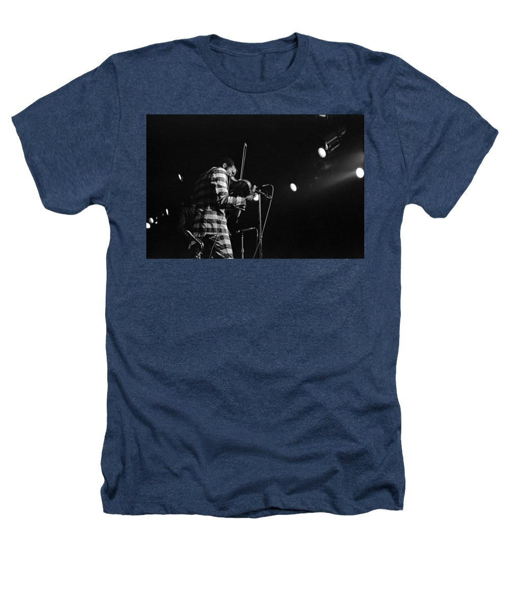 Ornette Coleman Heathers T-Shirt featuring the photograph Ornette Coleman On Violin by Lee Santa