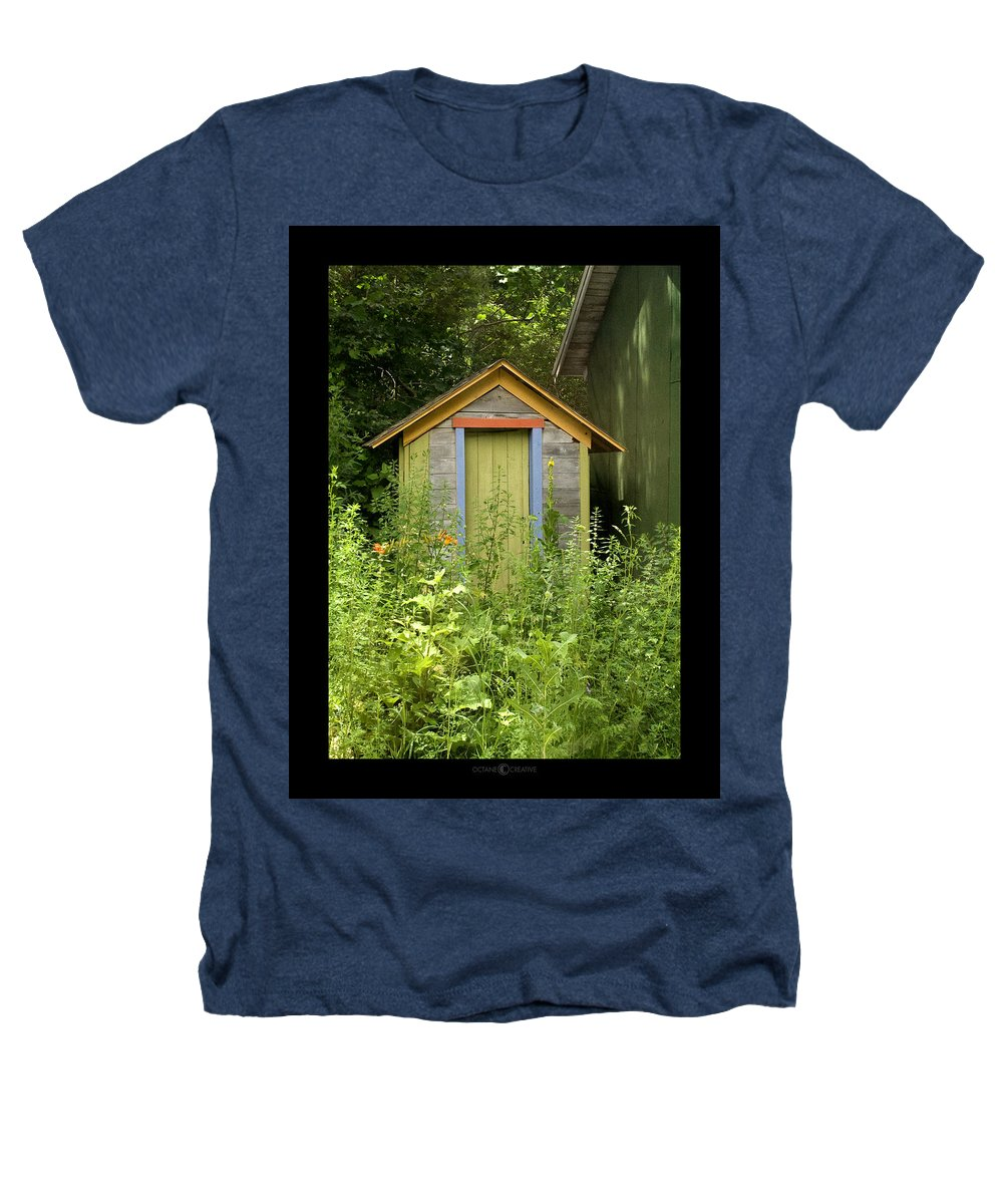 Outhouse Heathers T-Shirt featuring the photograph Outhouse by Tim Nyberg