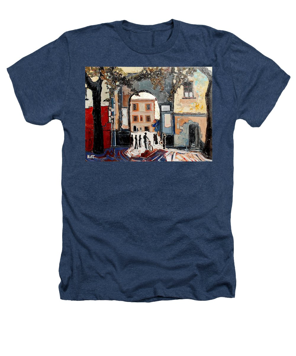 Tuscany Heathers T-Shirt featuring the painting Palazzo Vecchio by Kurt Hausmann