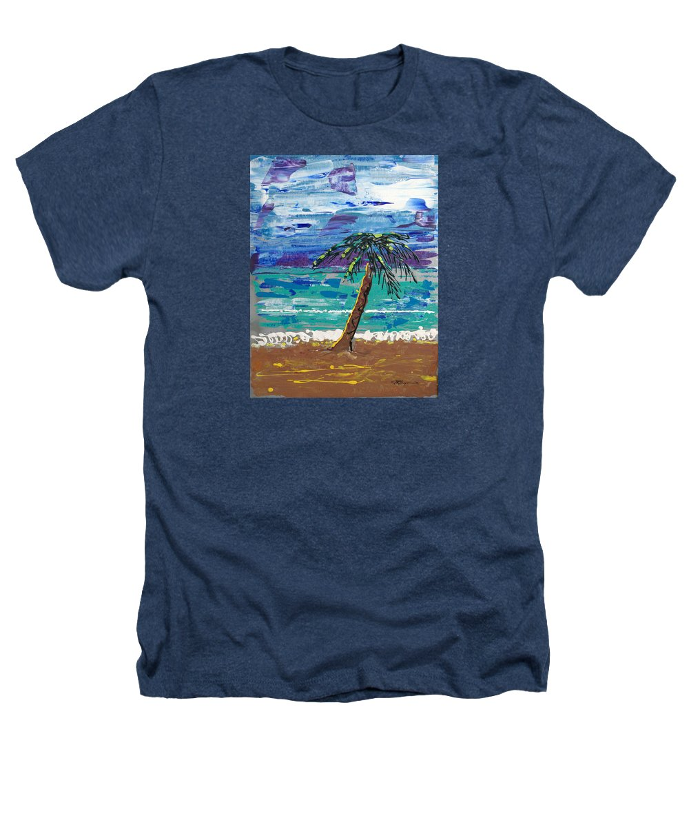 Palm Tree Heathers T-Shirt featuring the painting Palm Beach by J R Seymour