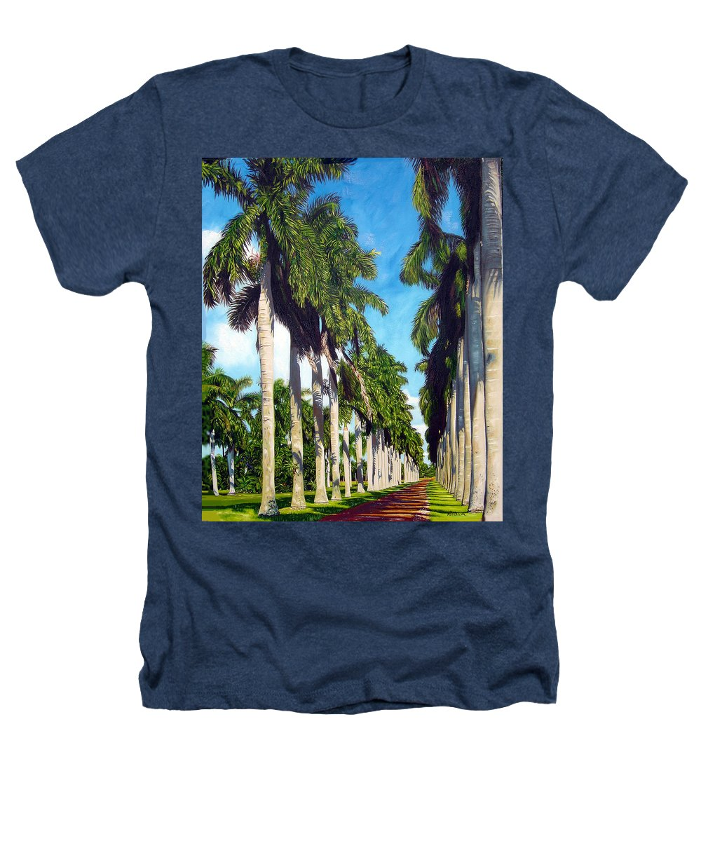 Palms Heathers T-Shirt featuring the painting Palms by Jose Manuel Abraham