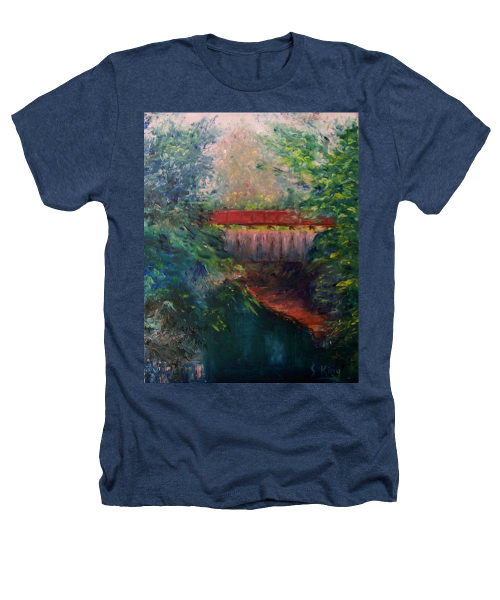 Landscape Heathers T-Shirt featuring the painting Parke County by Stephen King