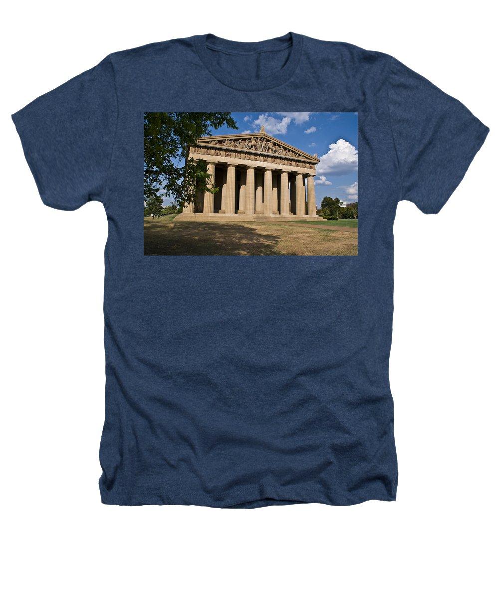 Parthenon Heathers T-Shirt featuring the photograph Parthenon Nashville Tennessee by Douglas Barnett
