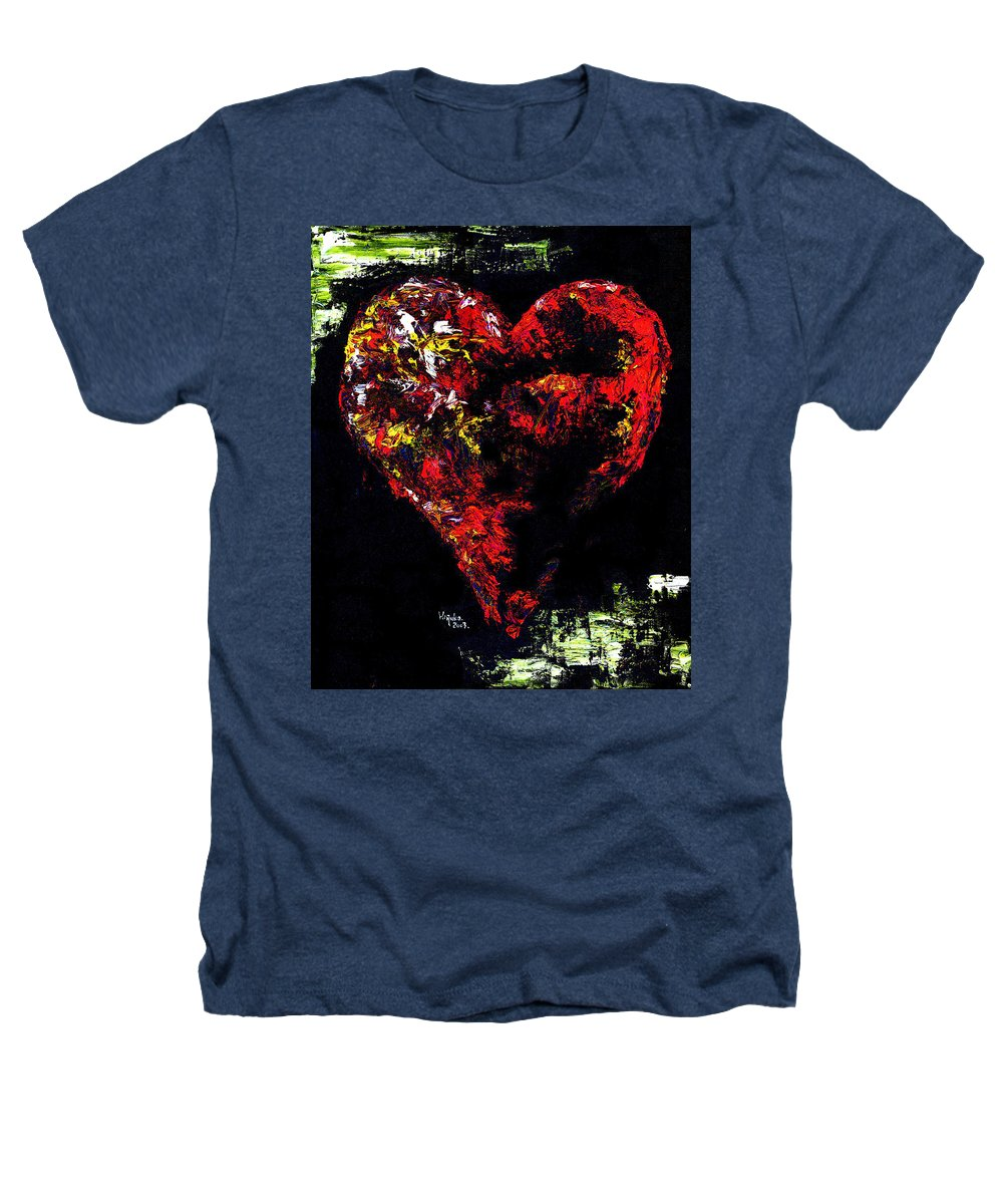 Heart Heathers T-Shirt featuring the painting Passion by Hiroko Sakai