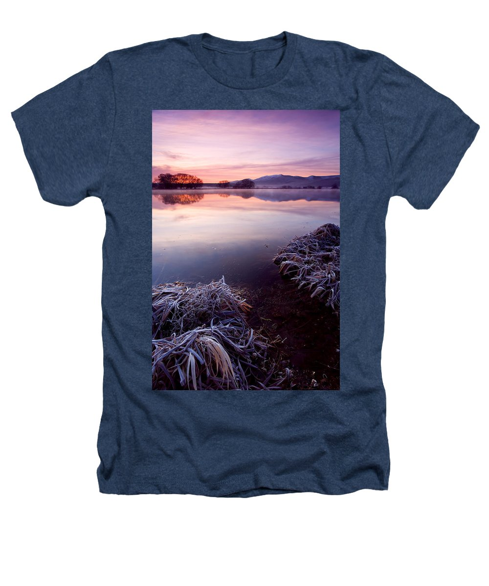 Lake Heathers T-Shirt featuring the photograph Pastel Dawn by Mike Dawson