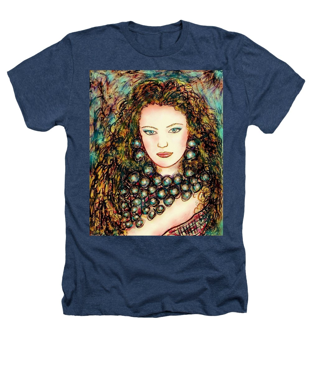 Woman Heathers T-Shirt featuring the painting Paula by Natalie Holland