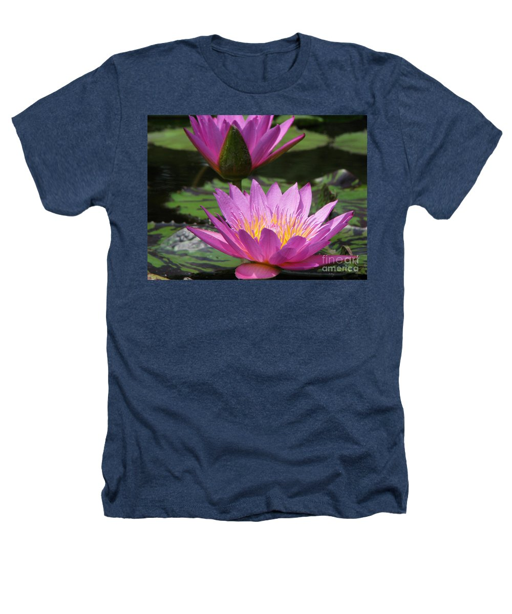 Lillypad Heathers T-Shirt featuring the photograph Peaceful by Amanda Barcon