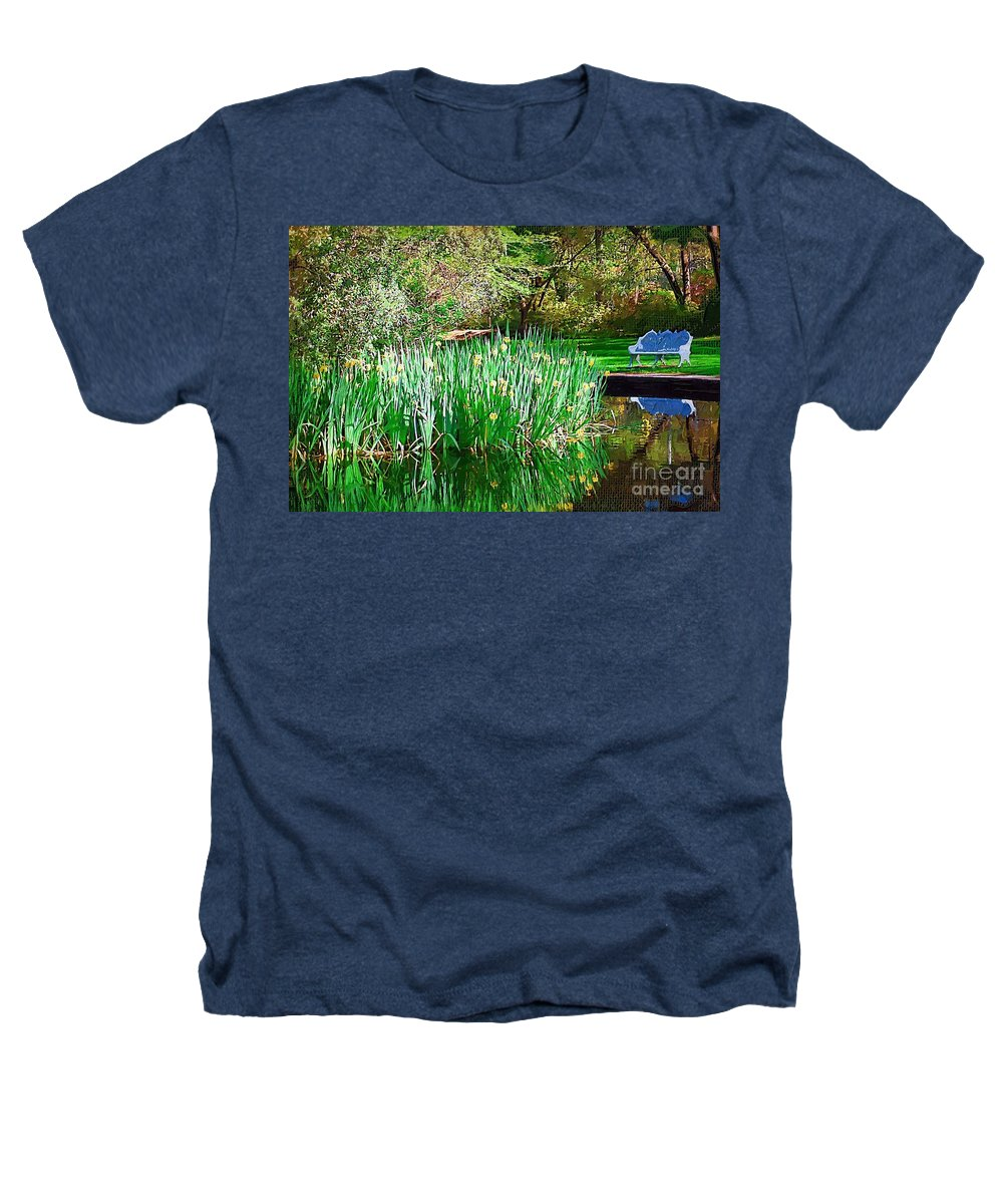 Pond Heathers T-Shirt featuring the photograph Peaceful by Donna Bentley