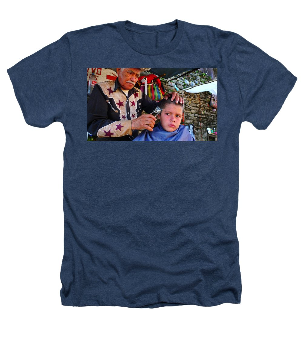 Skip Hunt Heathers T-Shirt featuring the photograph Peluquero Dos by Skip Hunt