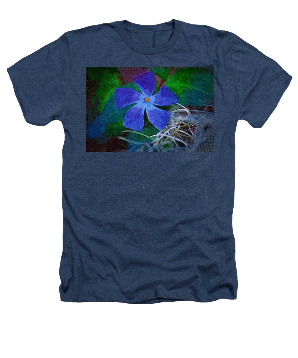 Flower Heathers T-Shirt featuring the digital art Periwinkle Blue by Donna Bentley