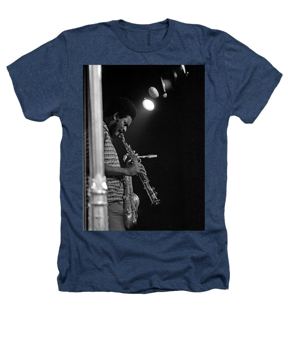 Pharoah Sanders Heathers T-Shirt featuring the photograph Pharoah Sanders 1 by Lee Santa