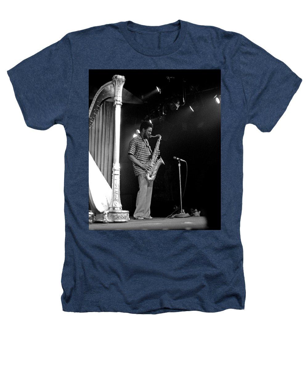 Pharoah Sanders Heathers T-Shirt featuring the photograph Pharoah Sanders 5 by Lee Santa