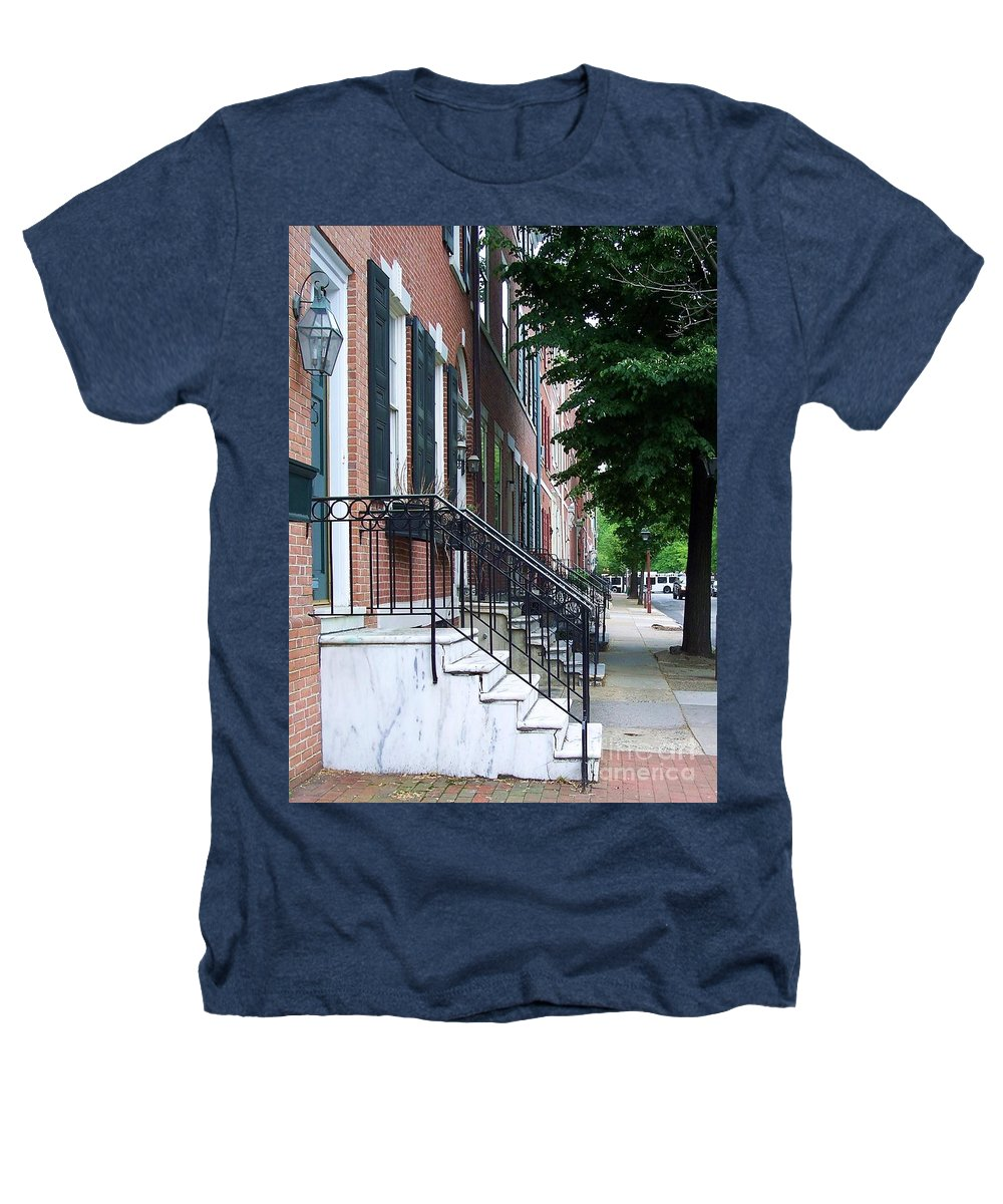 Architecture Heathers T-Shirt featuring the photograph Philadelphia Neighborhood by Debbi Granruth
