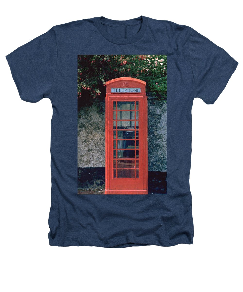 Great Britain Heathers T-Shirt featuring the photograph Phone Booth by Flavia Westerwelle