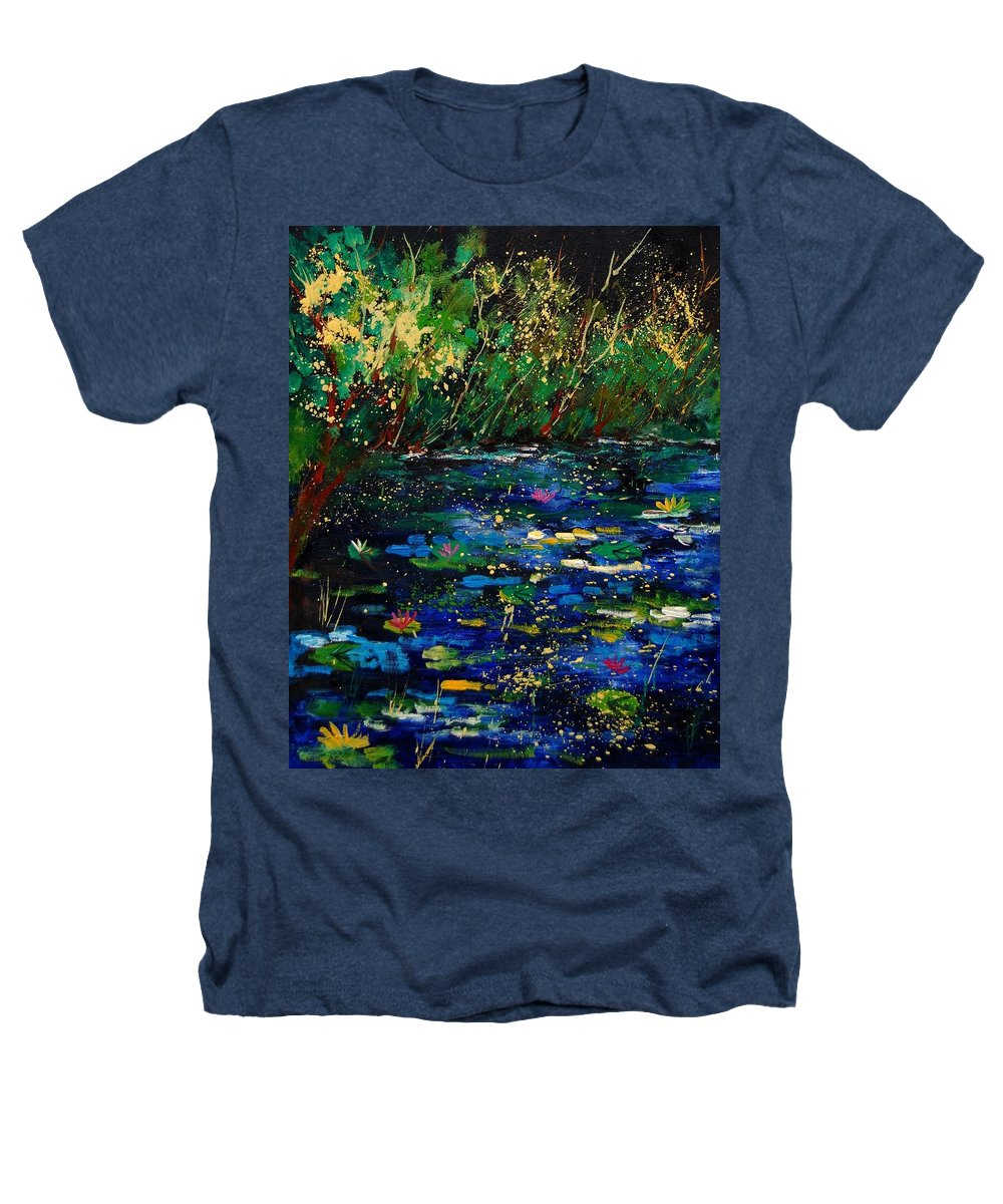 Water Heathers T-Shirt featuring the painting Pond 459030 by Pol Ledent