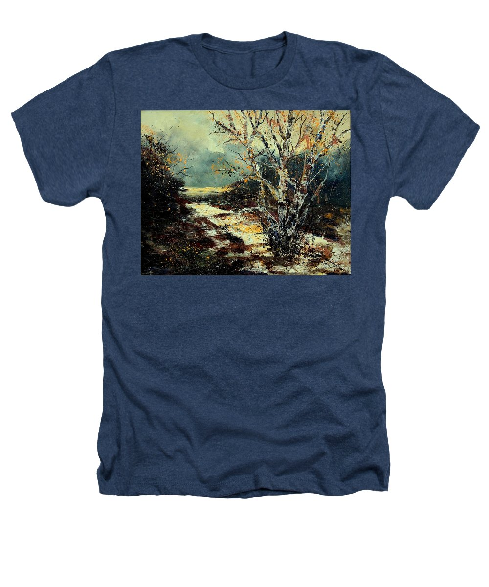 Tree Heathers T-Shirt featuring the painting Poplars 45 by Pol Ledent