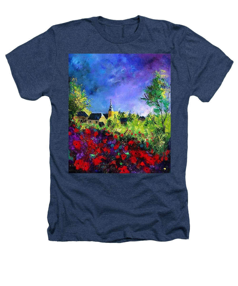 Flowers Heathers T-Shirt featuring the painting Poppies In Villers by Pol Ledent
