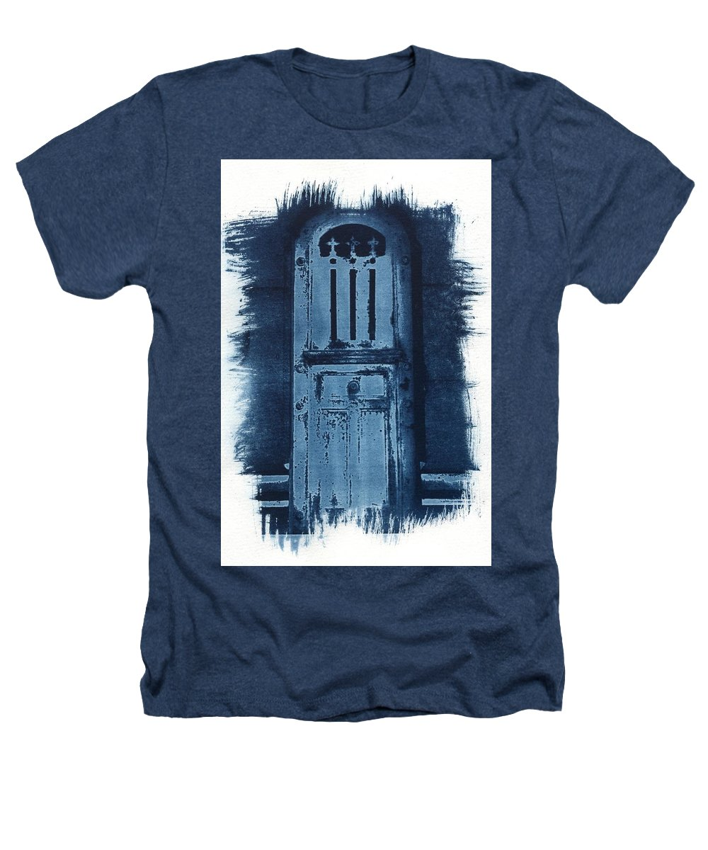 Cyanotype Heathers T-Shirt featuring the photograph Portals by Jane Linders