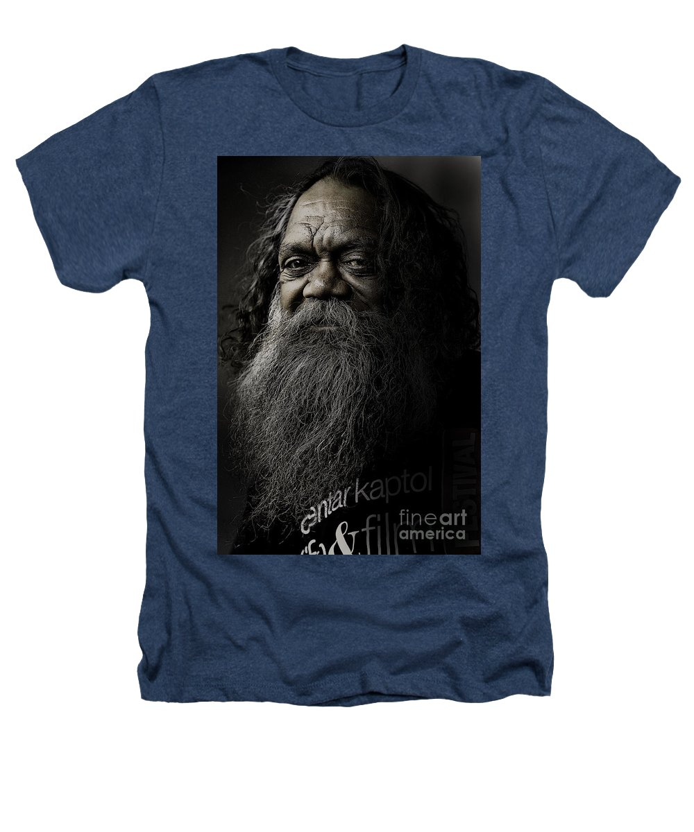 Aboriginal Heathers T-Shirt featuring the photograph Portrait Of Cedric by Sheila Smart Fine Art Photography