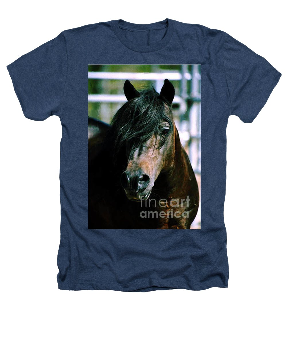 Horse Heathers T-Shirt featuring the photograph Portrait Of His Majesty - The King by Kathy McClure