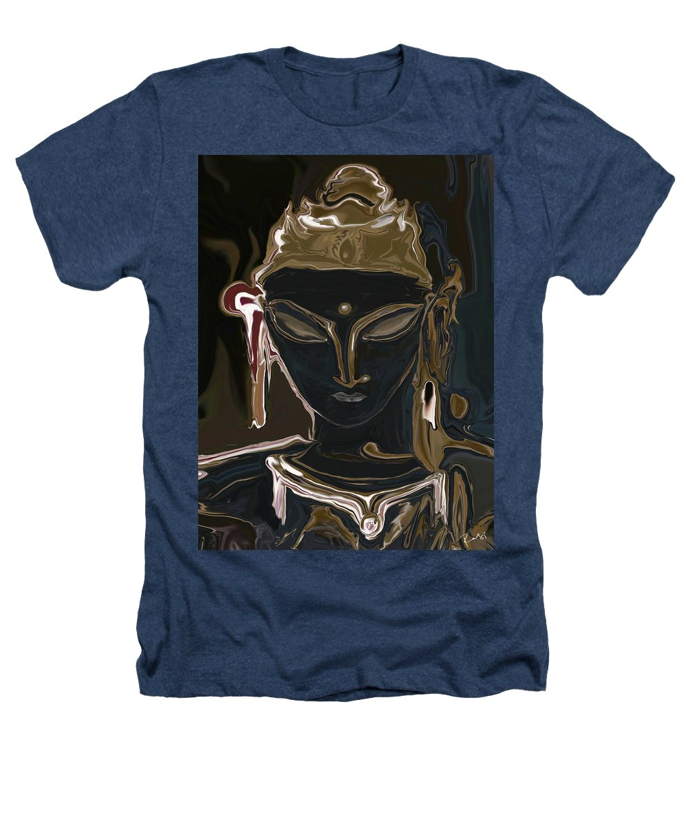 Art Heathers T-Shirt featuring the digital art Portrait Of Vajrasattva by Rabi Khan