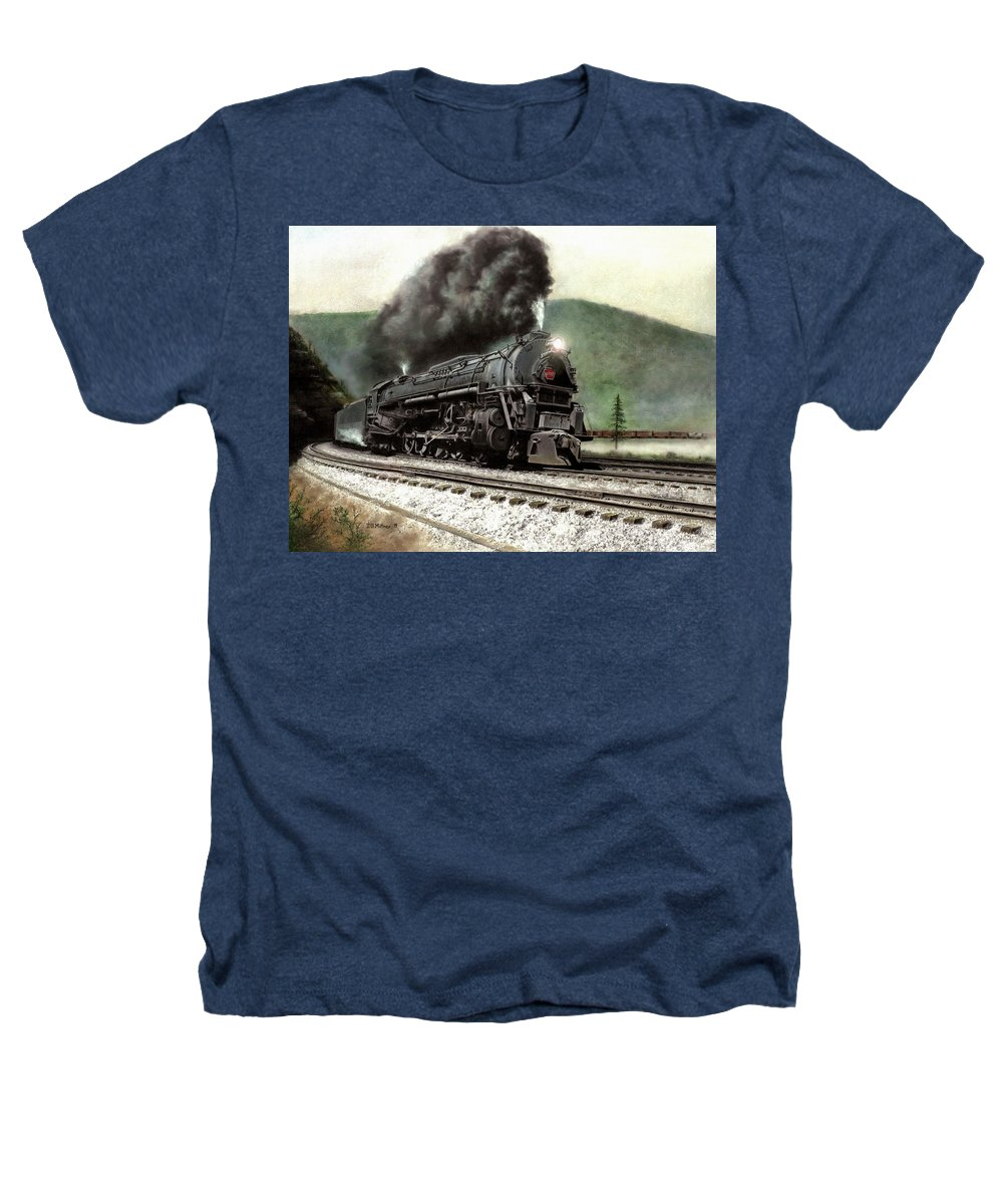 Heathers T-Shirt featuring the painting Power On The Curve by David Mittner