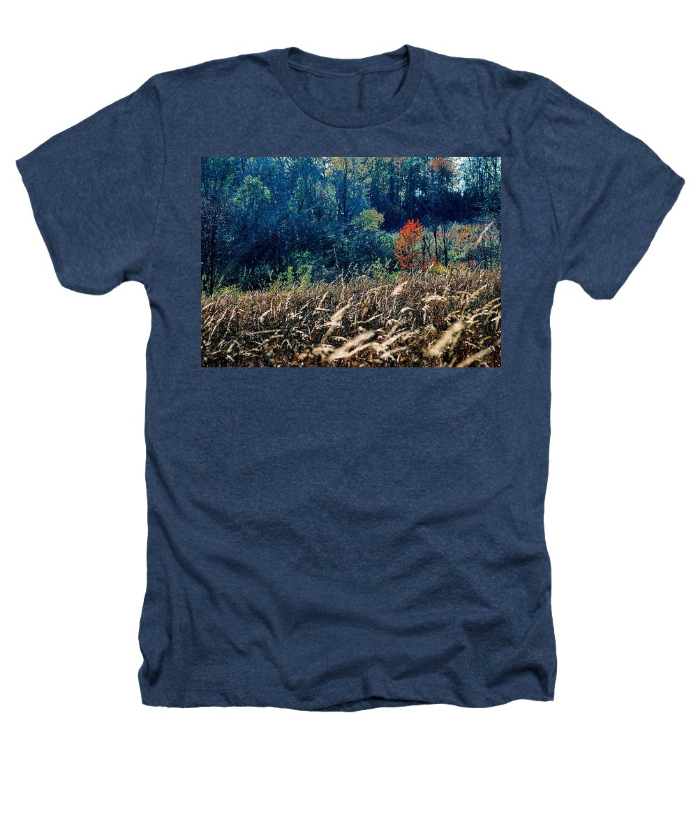 Landscape Heathers T-Shirt featuring the photograph Prairie Edge by Steve Karol