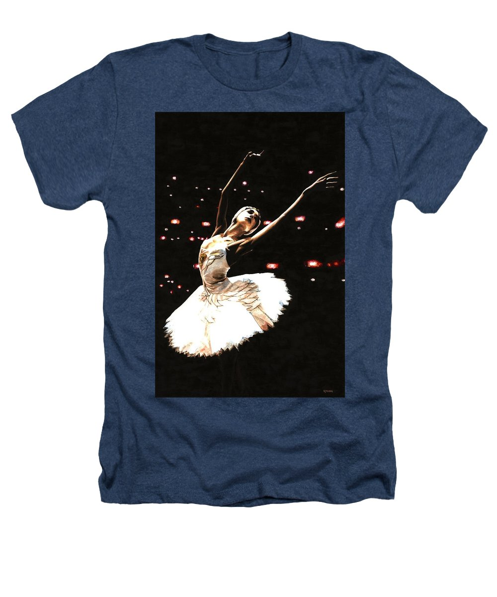 Prima Ballerina Heathers T-Shirt featuring the painting Prima Ballerina by Richard Young