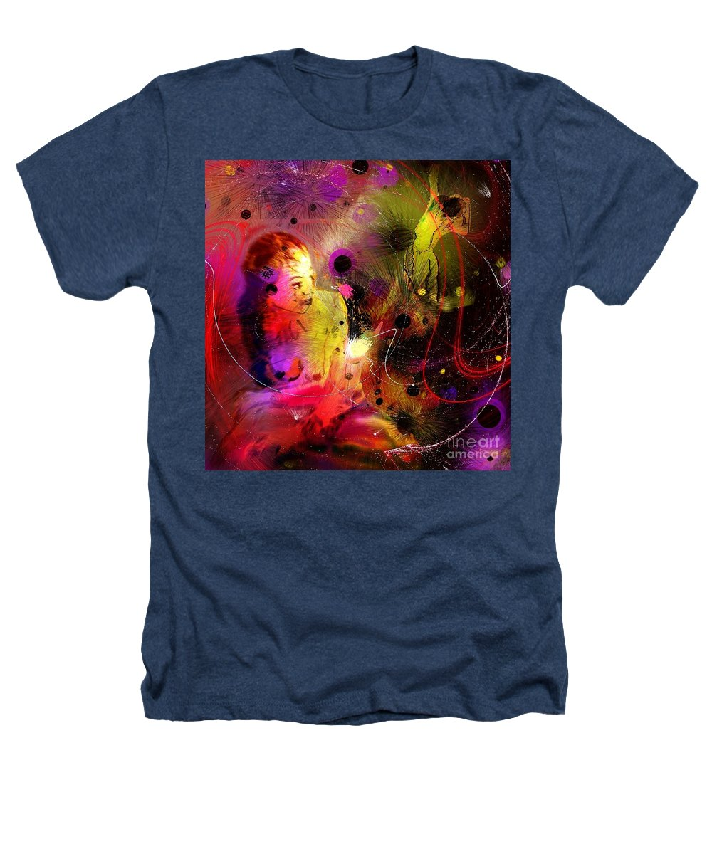 Nudes Heathers T-Shirt featuring the painting Prisoner Of The Past by Miki De Goodaboom