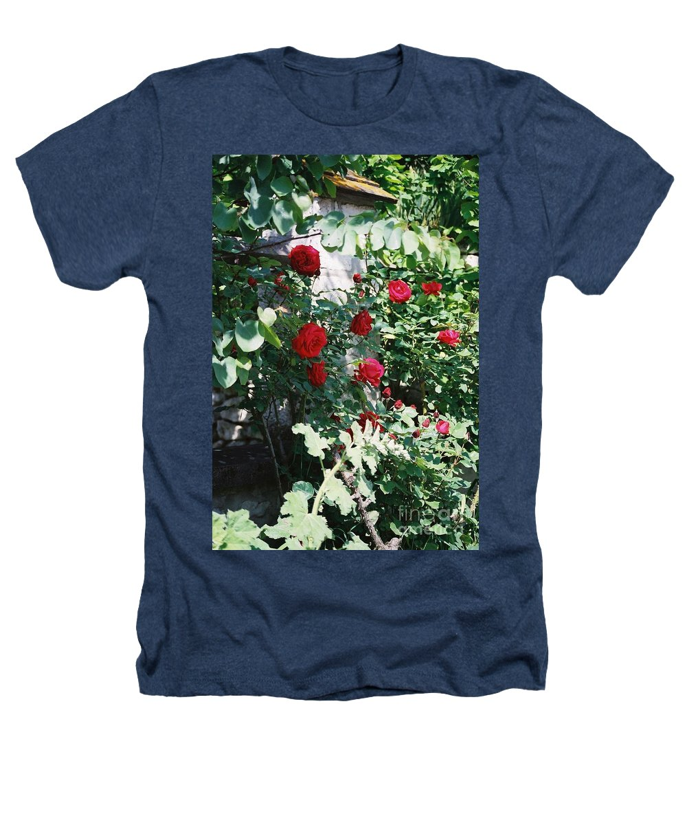 Floral Heathers T-Shirt featuring the photograph Provence Red Roses by Nadine Rippelmeyer